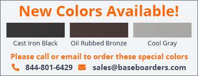New Colors - Now Available in Cast Iron Black, Oil Rubbed Bronze & Cool Gray